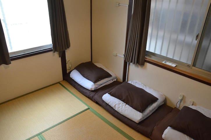 ♪☆天王寺、新世界に近い国際的な古民家の3人部屋個室