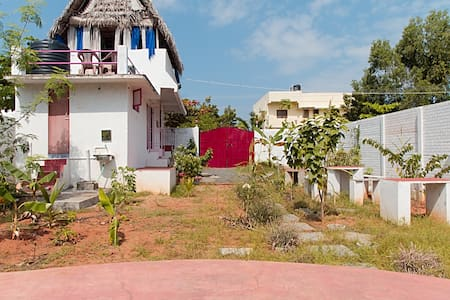 EcoNest with garden terrace view - kuilayapalyam