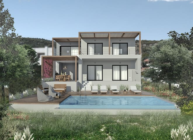 Villa Mouria. 3bedrooms, Private pool, Large garden