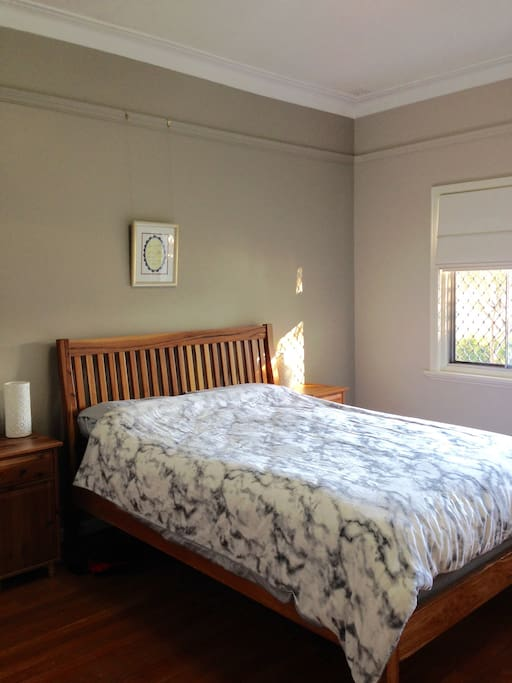 Master Bedroom - large room with queen sized bed.