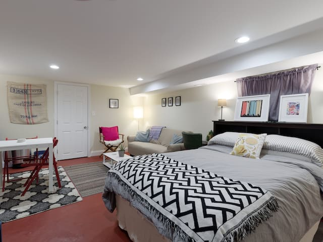 Sweet basement space with dry kitchenette near JHU