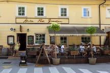 Really good restaurant under the castle