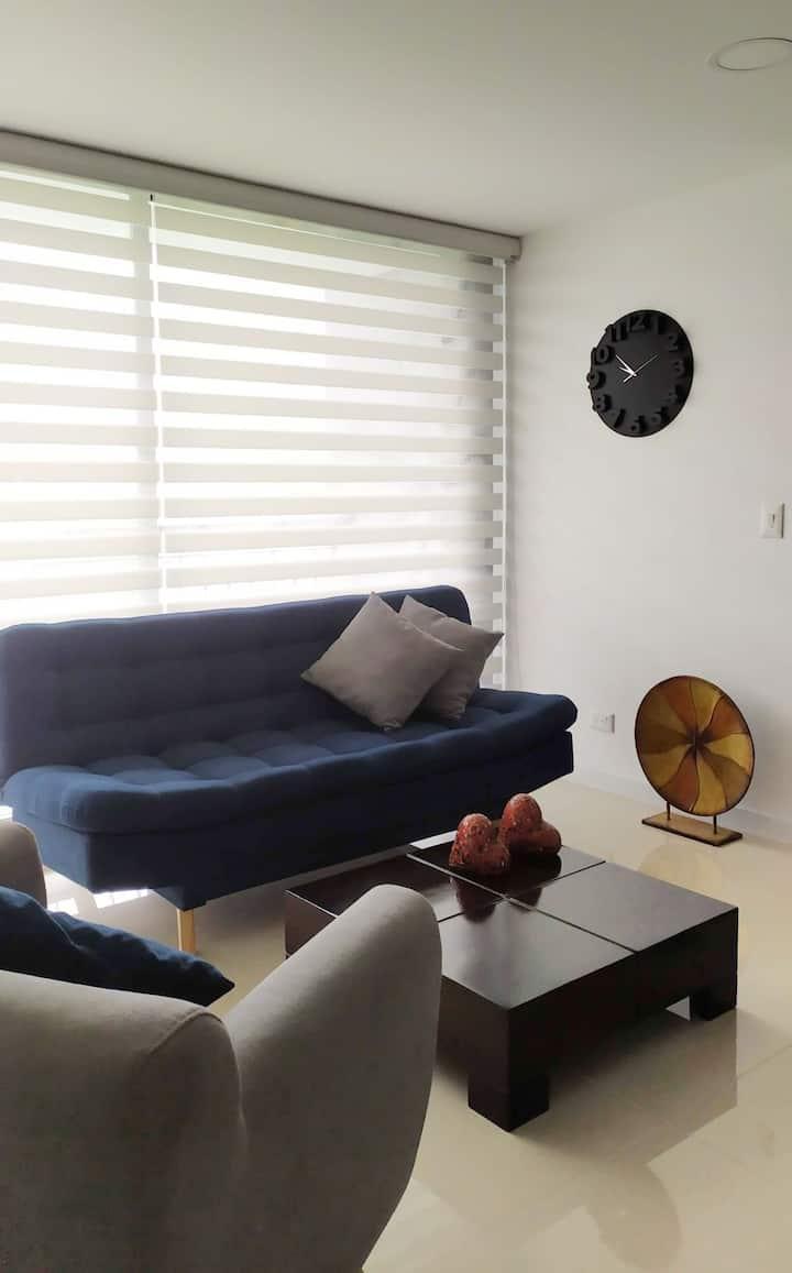 Un lugar moderno, con estilo y calor de hogar!