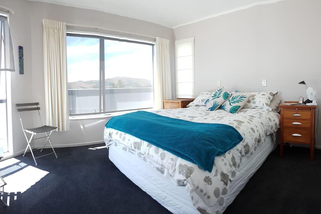 Your light, private and spacious bedroom has extensive waterviews.