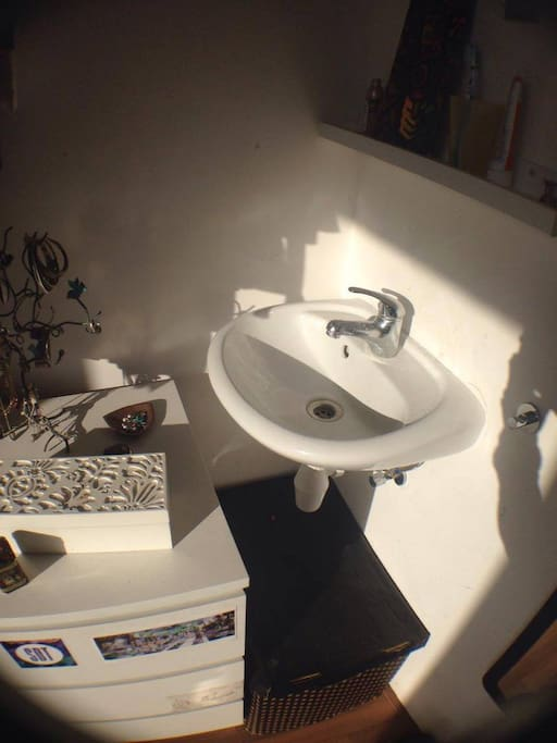a private sink in your room