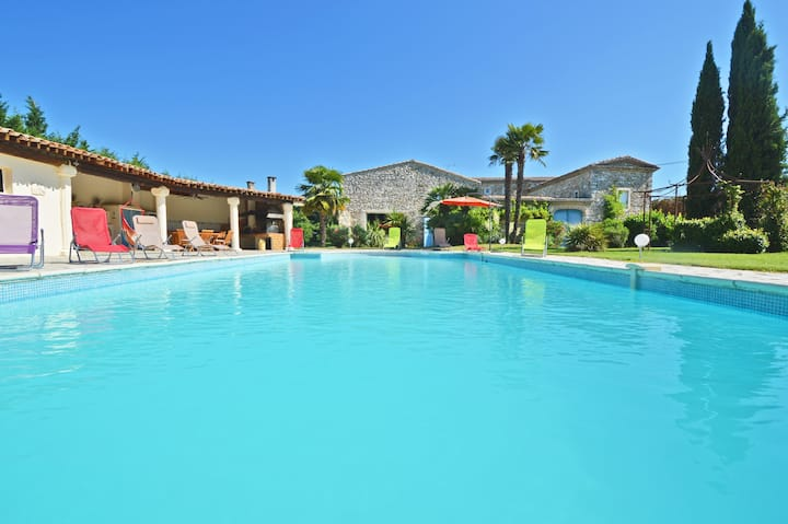 Grand Mas independant 350m² pool house 8 chb