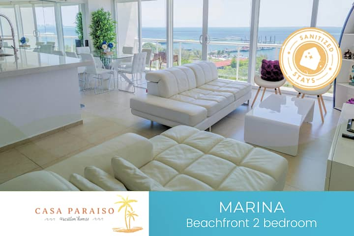 ☆ MARINA -Beachfront /shared pool/6 pax/ WI-FI☆
