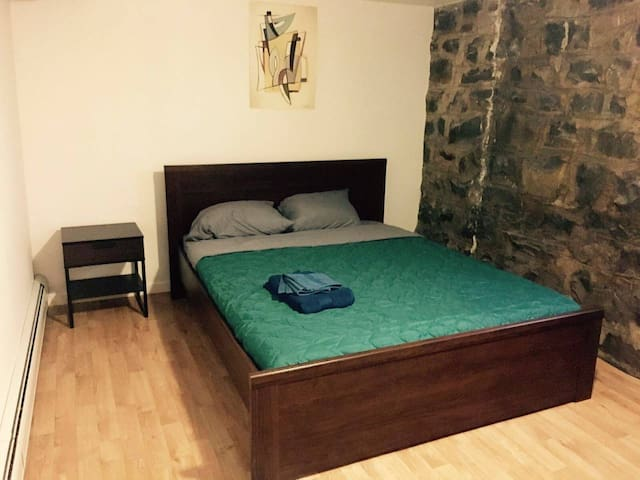 Room has Queen size Bed with Therapeutic mattress
