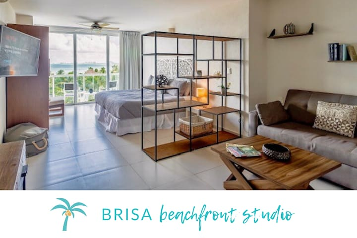 *BRISA Beachfront Studio- Amazing Oceanview*
