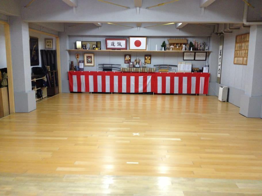 一階剣道場です。