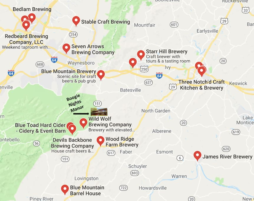 And these are just the closest breweries!!! Add in all the wineries, vineyards, and distilleries and you might as well stay for a couple weeks :)