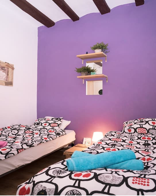 Remember, the rooms are adjustable - two single beds or one double bed available on request ubu
