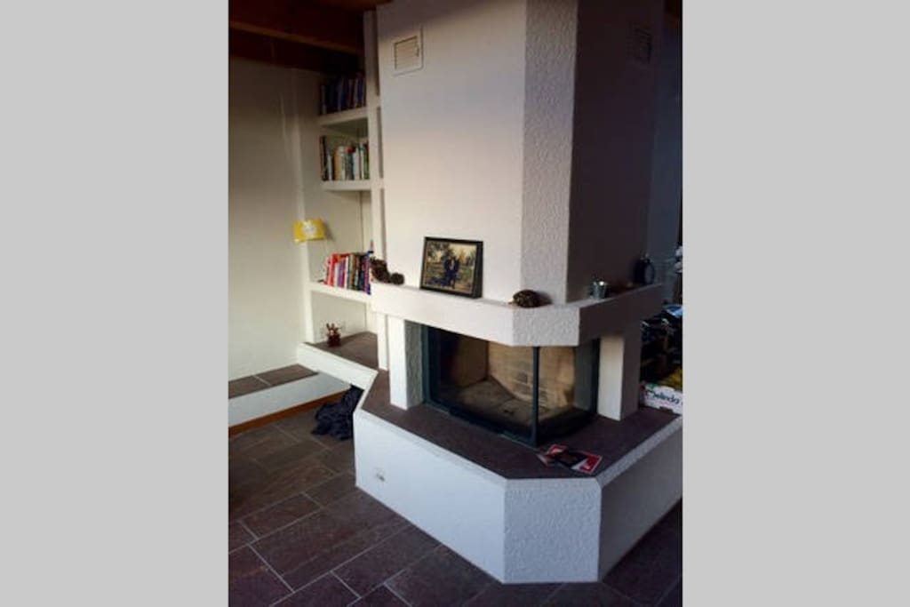 Fireplace in common living room