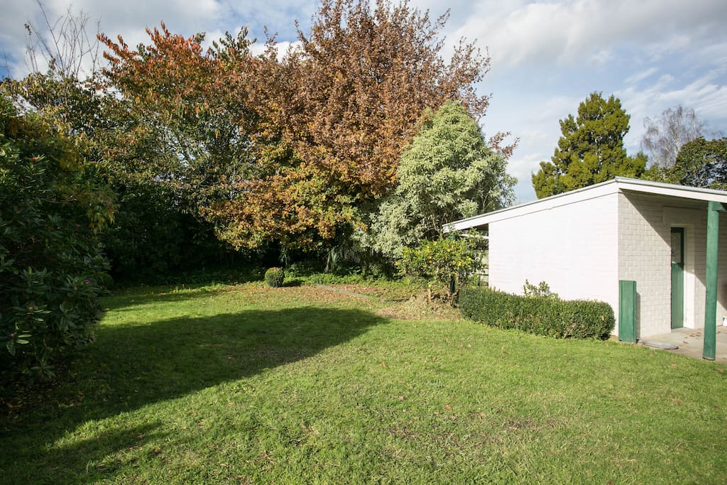 Beautiful setting at the rear of the property with privacy and access to the back lawn