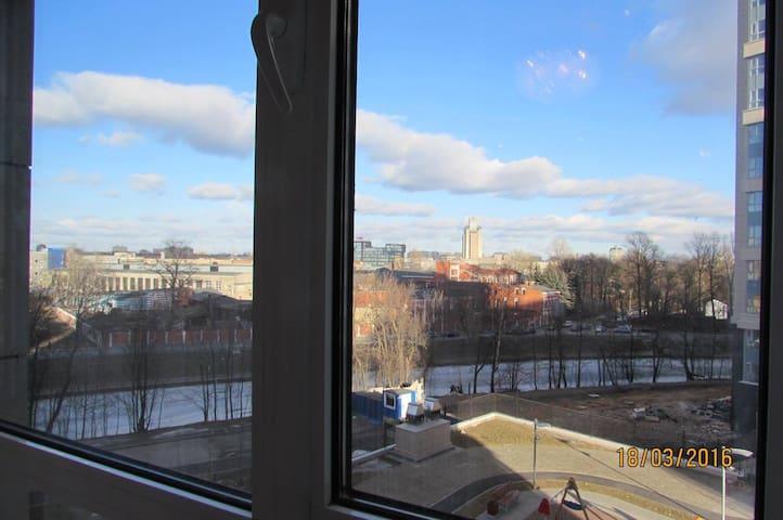 View of Chernaya Rechka from the window
