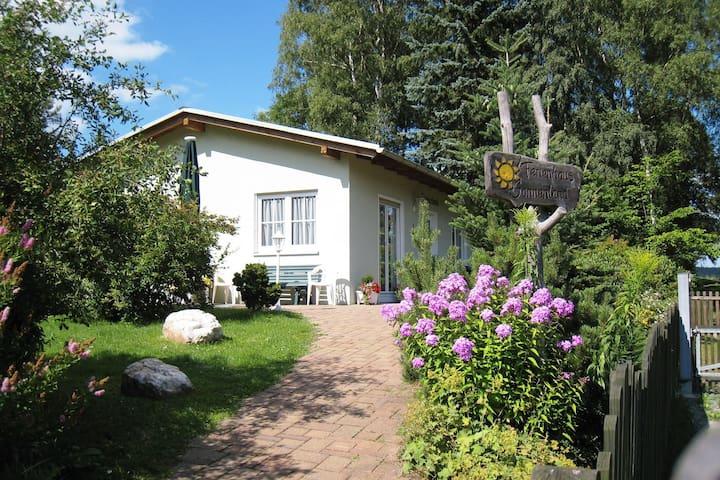 Vrijstaand vakantiehuis in de Saksen met een carport