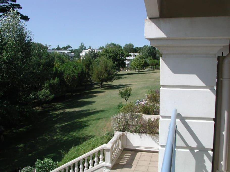 Vue du balcon sur parc