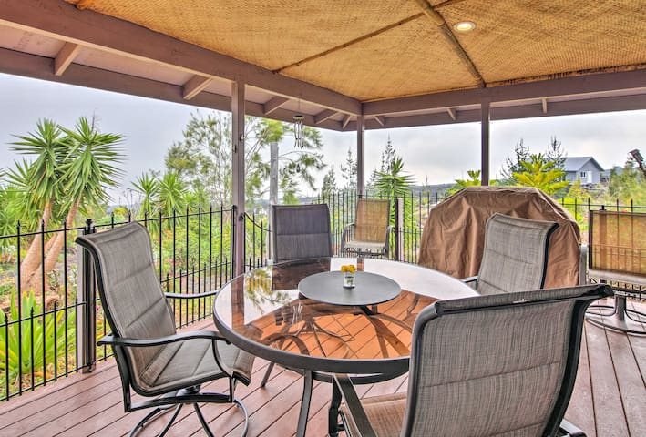 Enjoy spectacular views of South Point from the covered lanai.