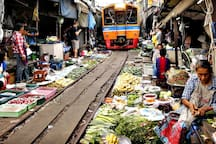 Meaklong Market Railway   Time: 6.30 am, 8.30 am, 11.00 am, 2.30 pm