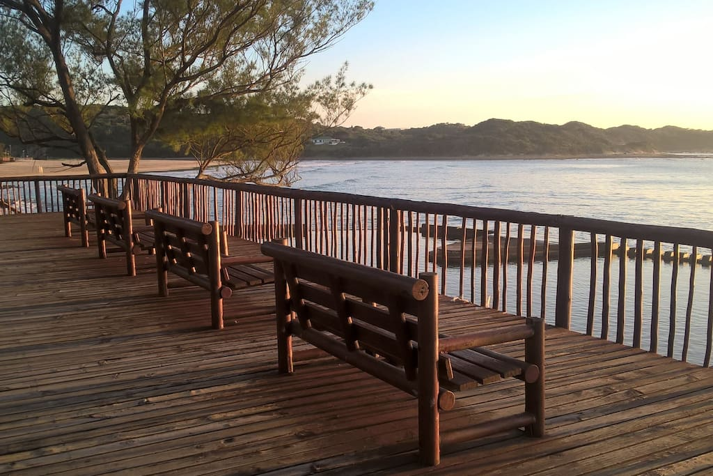 Lovely sitting areas and boardwalk to enjoy anytime of the day.