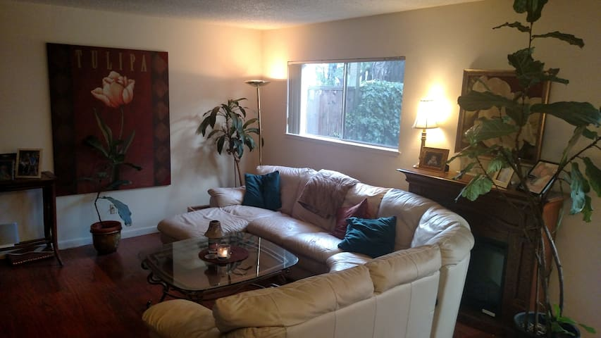 Large Master Bedroom Clean/Quiet with Wooded View - Los Gatos - Townhouse
