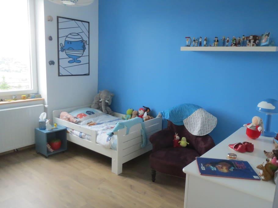 Chambre bleue !