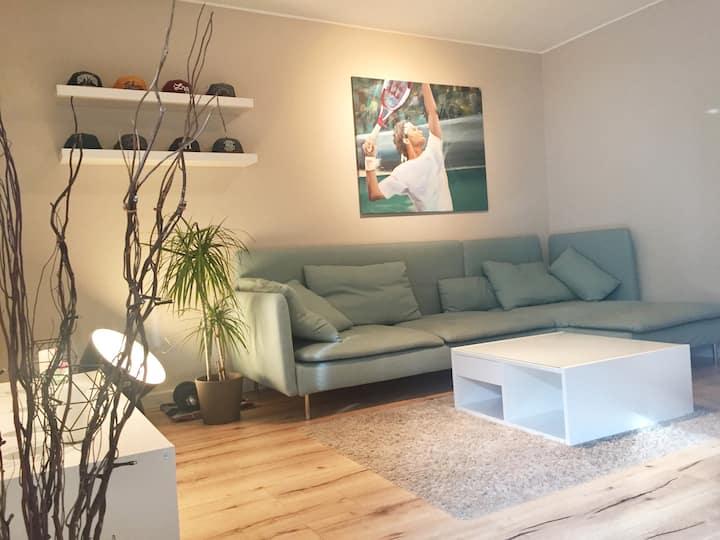 Ruhige,messenahe 3-Zimmer Wohnung in Bahnhofslage