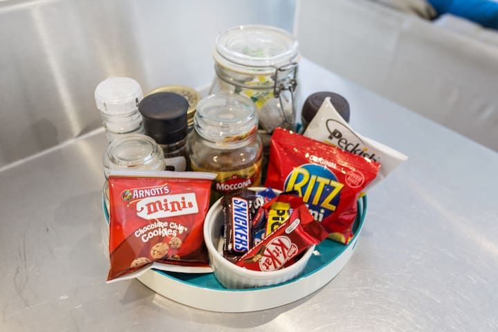 Complimentary snacks and treats