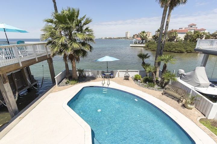Bayfront House w/ Boat Slip & Heated Pool! Fish Right from Backyard! Views!