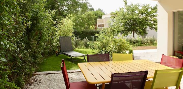 Bel appartement **** 60M2+ jardinTout à pied