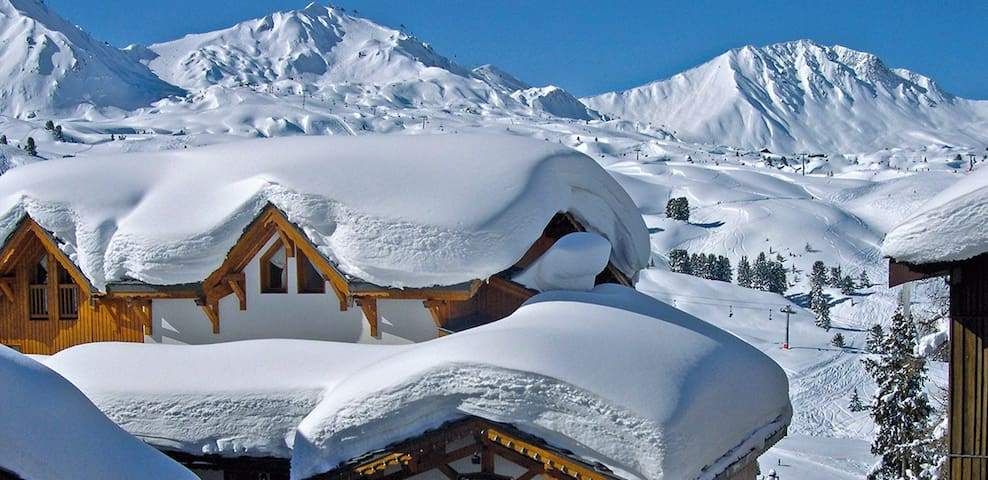 Belle Plagne - aller retour ski au pied