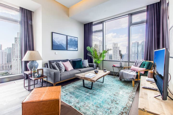 Contemporary 2BR at 42 Maslak with Pool & City View