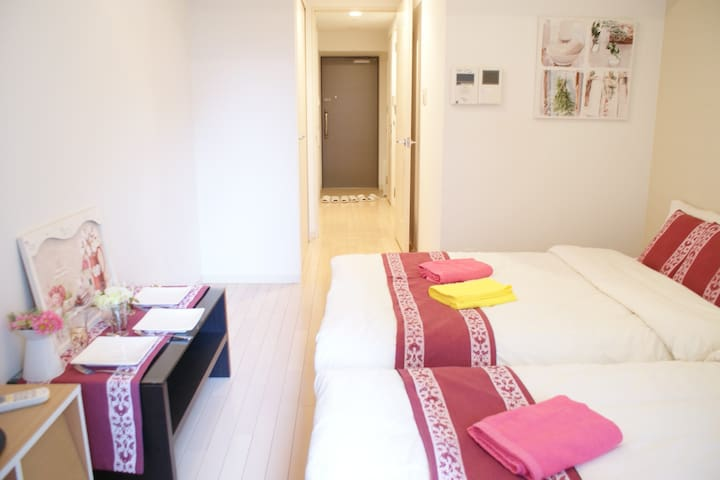 Convenient/Clean/Cozy 1min from Namba Sta+WIFI,TV - Naniwa Ward, Osaka - Wohnung