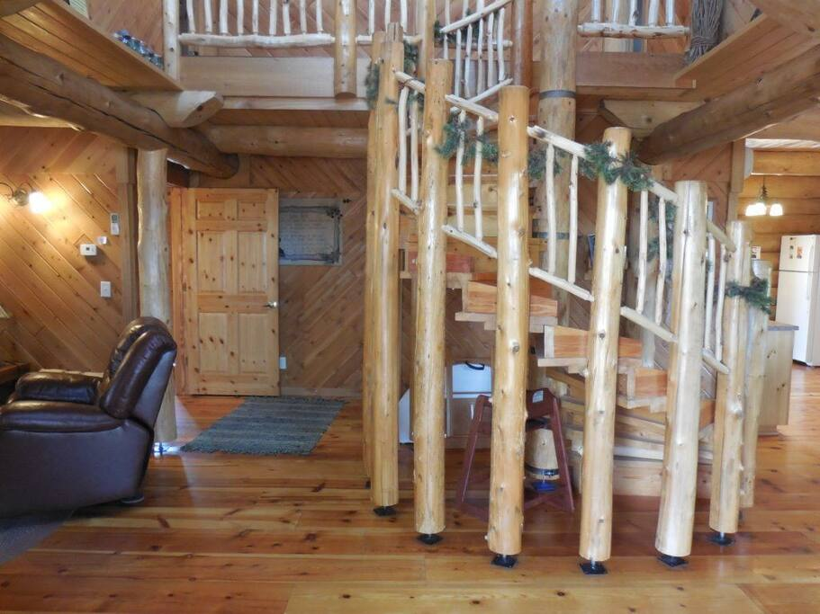 handmade spiral staircase!