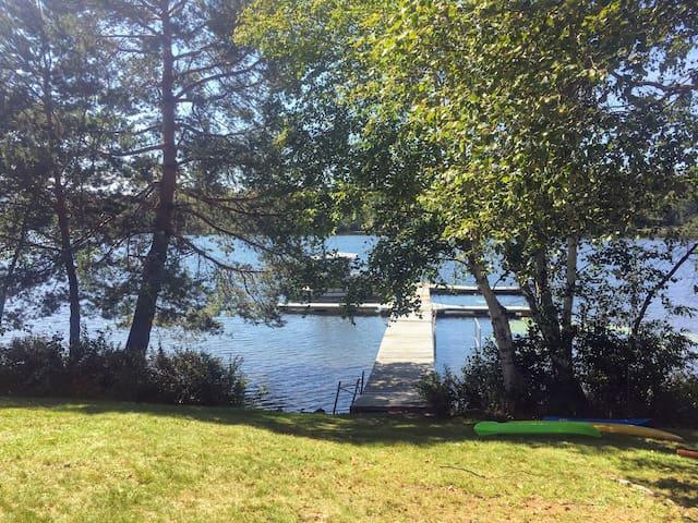 Rangeley Lake rental with dock.