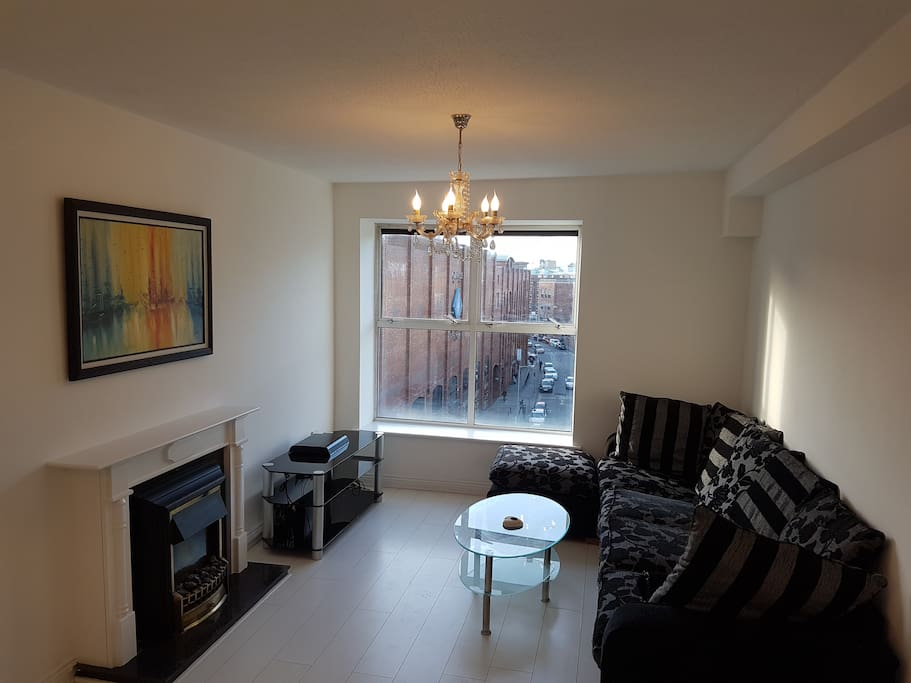 Fire place and comfortable sofa bead