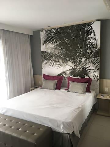Flat em hotel Mercure Boulevard, ótima localização