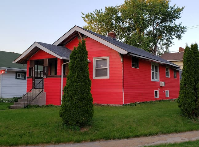 Exterior painting and repairs are still in process - the color should make it easy to find! :-)