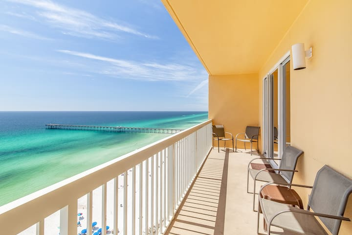 ☀Beachfront for 8☀Calypso 2-1502W-OPEN May 19 to 21 $767! 2 Gulf Front Pools