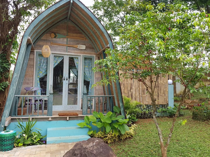 Wooden house KAWIS in RIMBA DESA resort Jepara