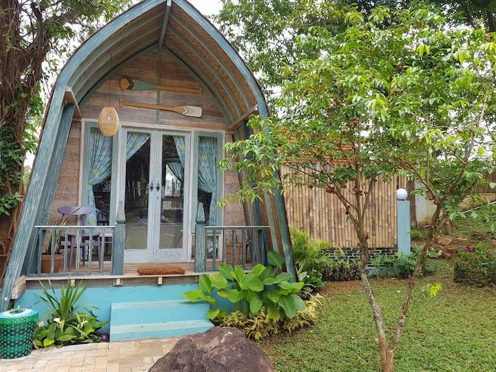 Wooden house KAWIS in RIMBA DESA resort Jepara