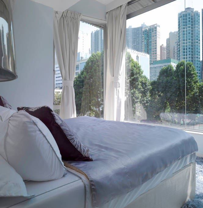 1 of 3 bedrooms with fantastic view.