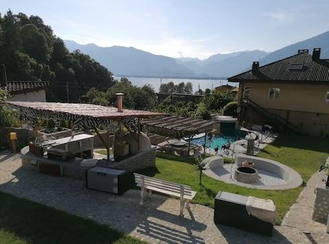 Wohnung in sehr ruhiger Lage mit Seeblick & Pool