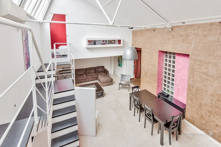 Loft 20 minutes from Paris