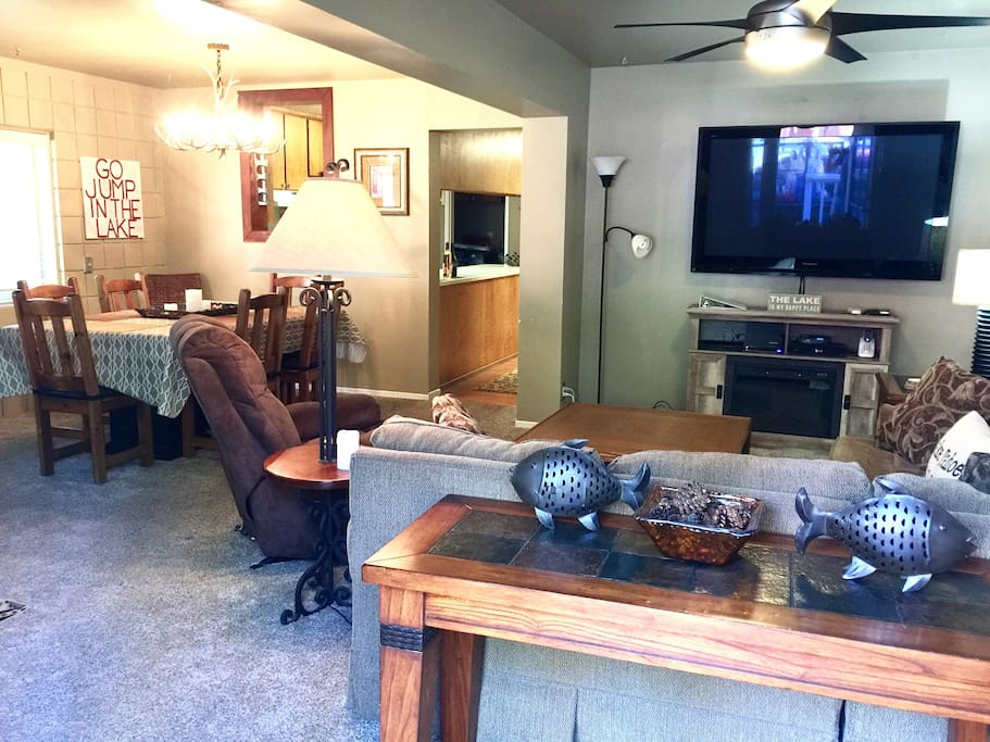 Open concept living area. Plenty of seating to relax after a fun filled day!