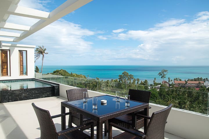 2 bedroom pool/sea view apartment - Ko Samui - Apartment