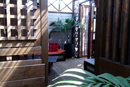 bungalow zen atypique proche lagon - La Saline-Les-Bains