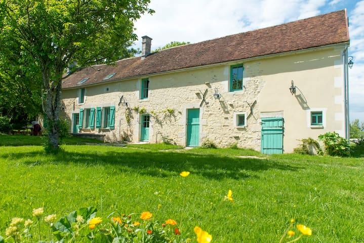 La Biche Forterre, overdekt privé zwembad, rust - Lainsecq - Casa
