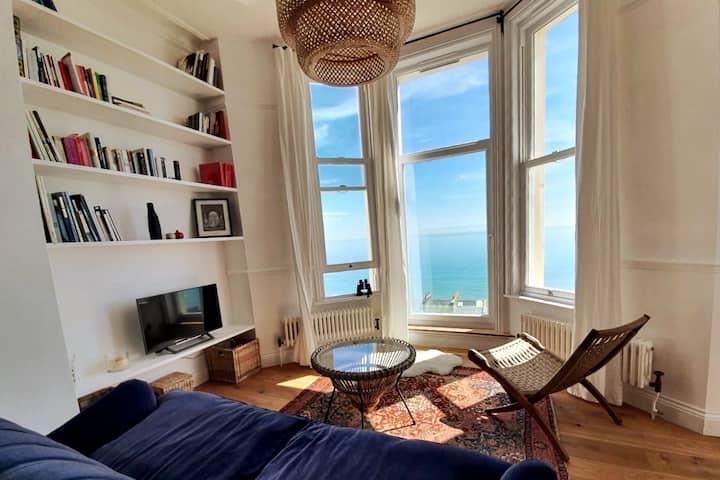 Stunning sea views from beautiful Victorian flat