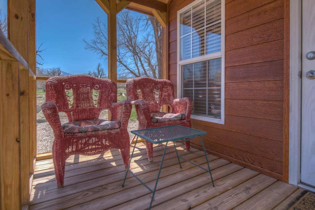 Relax on the front porch in the fresh Colorado mountain air